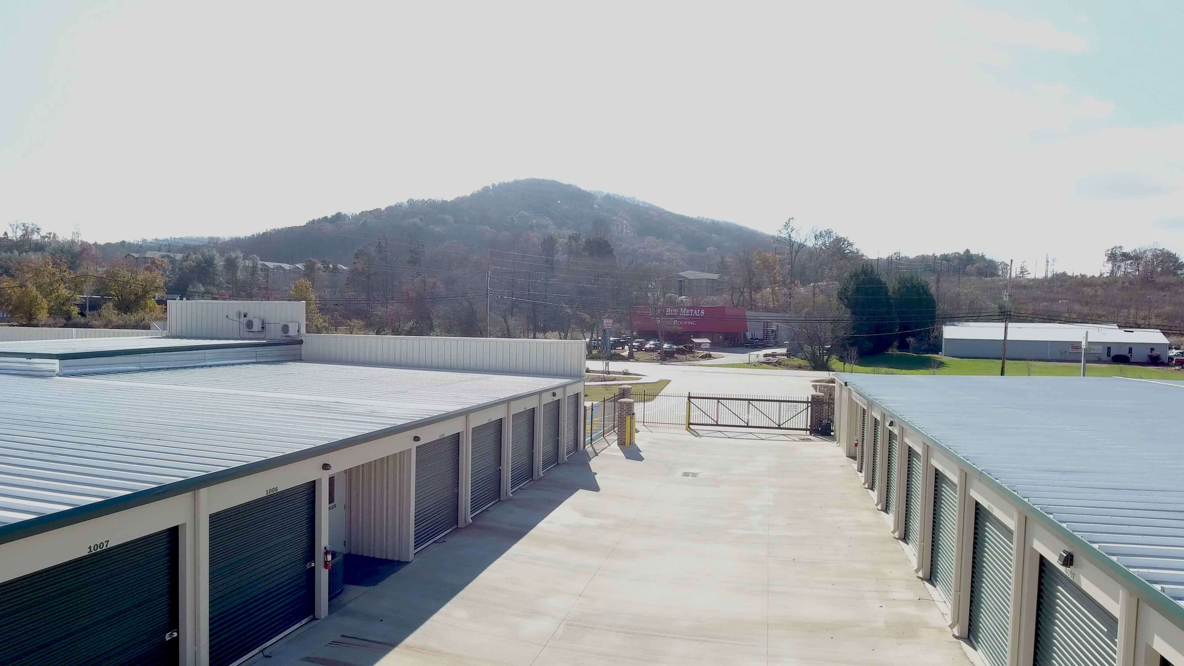 Asheville Storage NC, Gate access driveway and Drive-up storage units, Car Storage, Business Storage, Asheville, North Carolina