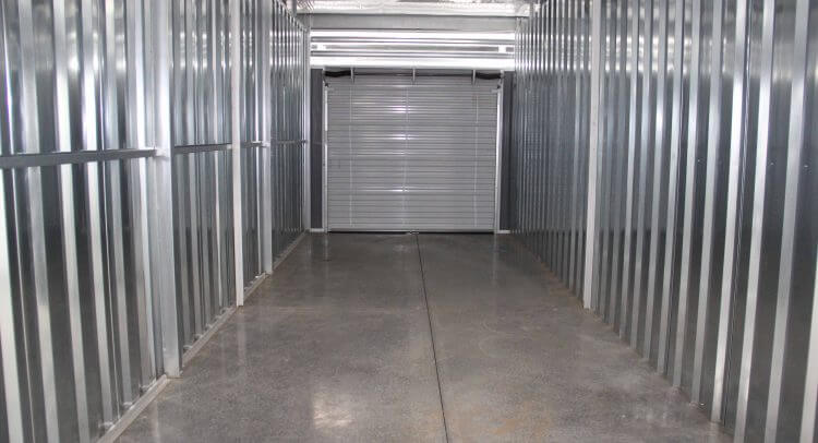 Asheville Storage NC - Inside view of Climate Controlled Storage Units, perfect for car storage